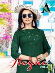 Aayna aayna vol 2 beautiful colour daily Wear fancy Kurties Collection