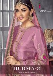 Eba Lifestyle hurma vol 3 sharara wedding suits with plazzo concept Latest collection