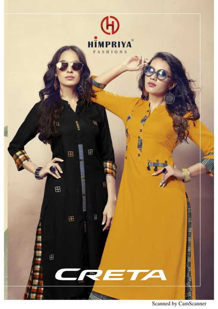 Himpriya fashions Launch CRETA casual wear kurti with plazzo concept