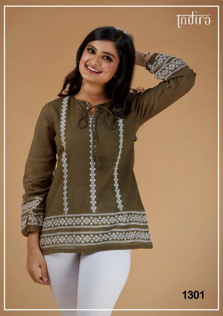 Indira Apparel kameez casual ready to wear short tunics catalog