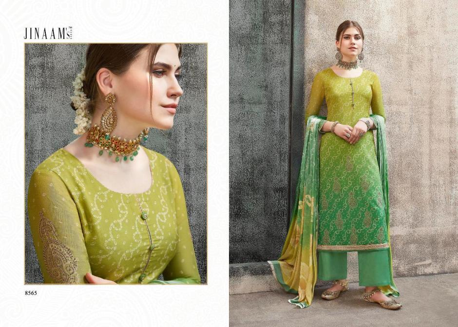 Jinaam dress adorn party wear digital printed Salwar kameez Collection