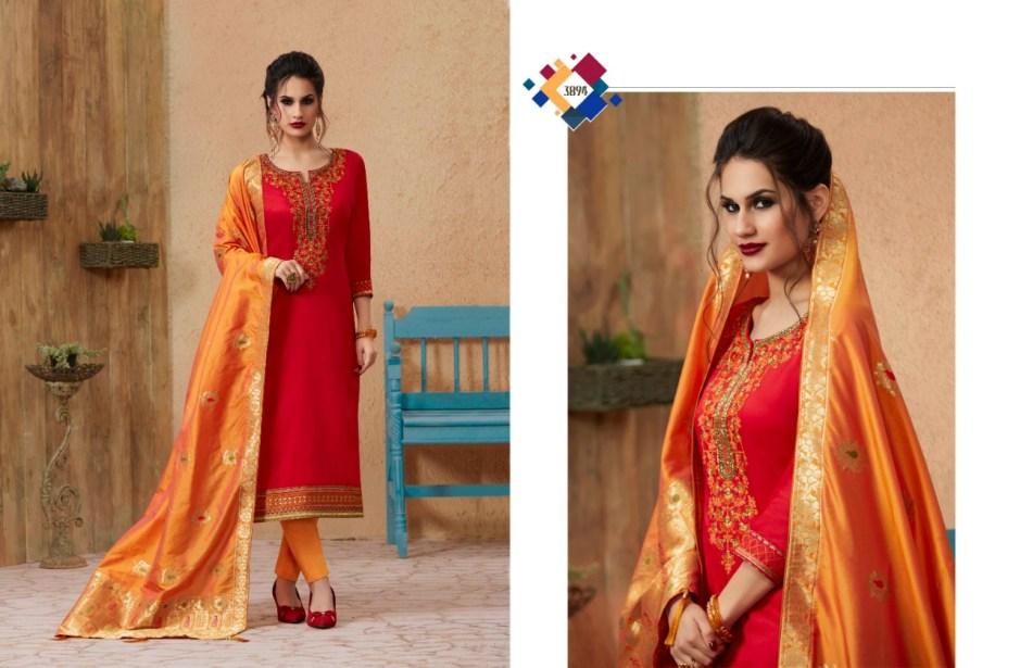 Kessi Fabrics virasat cotton embroidered designer salwar Kameez collection
