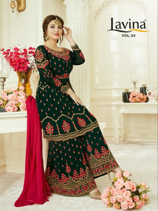 Lavina lavina vol 54 heavy Embroidered Salwar and sharara elegant wear collection