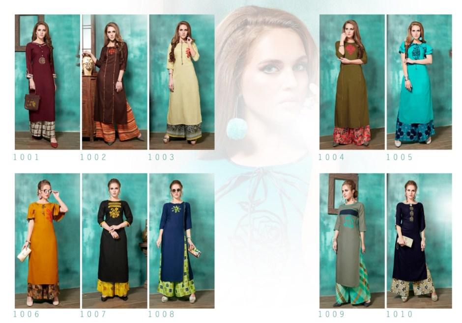 Radhika azara bazwa heavy rayon beautiful party wear fancy Kurties Collection