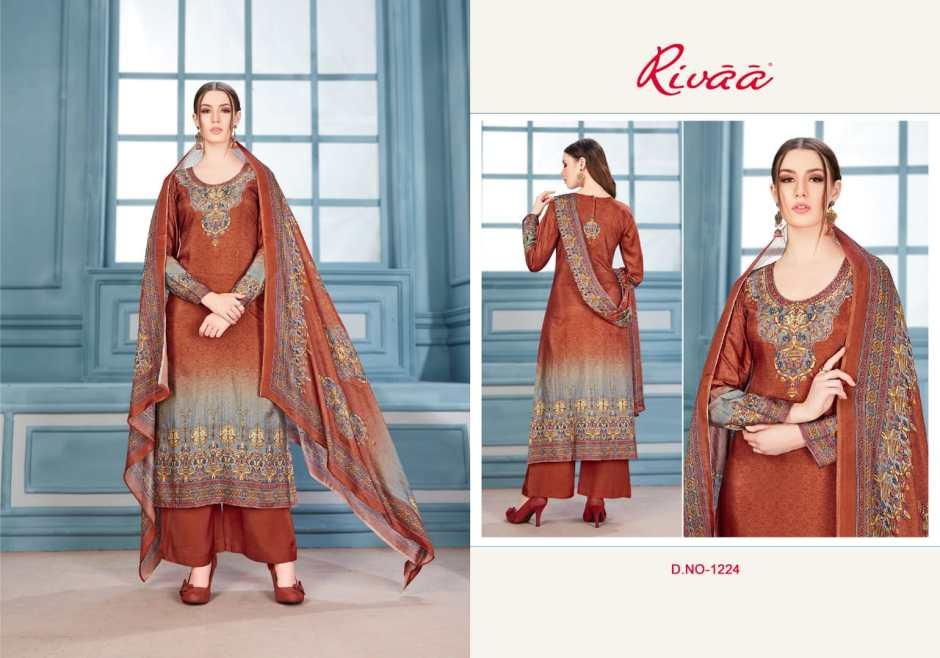 Rivaa sanjana beautiful Colours party wear salwar Kameez Collection