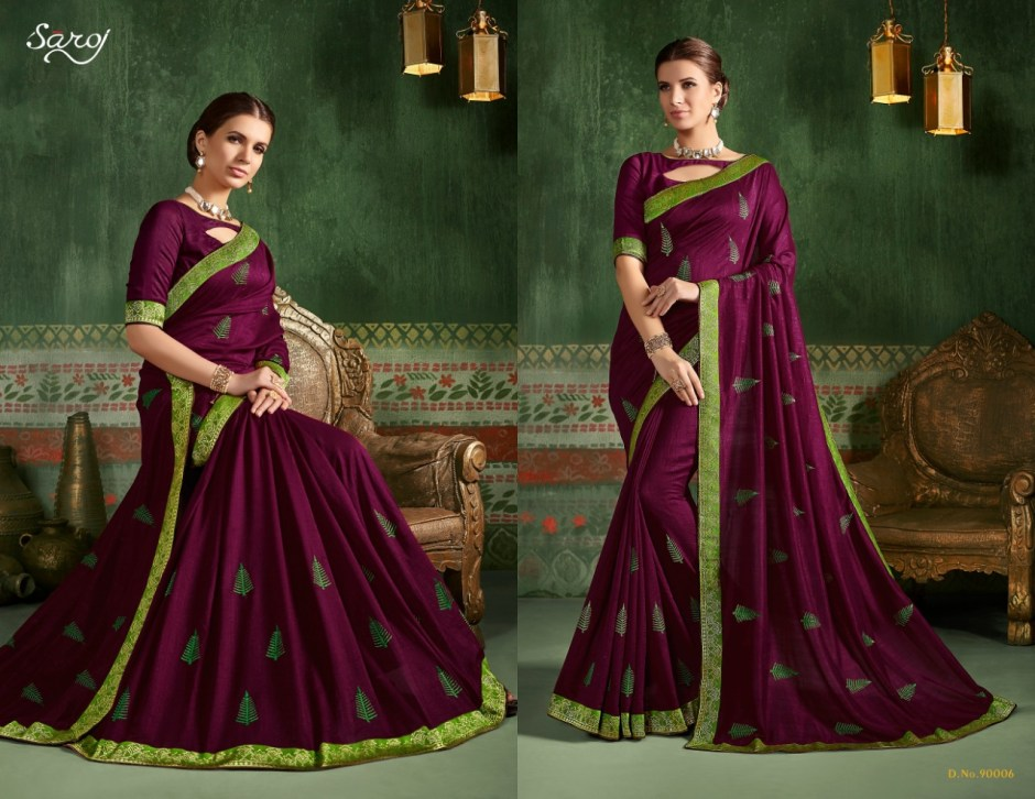 Saroj autograph designer fancy silk sarees traditional wear sarees Collection