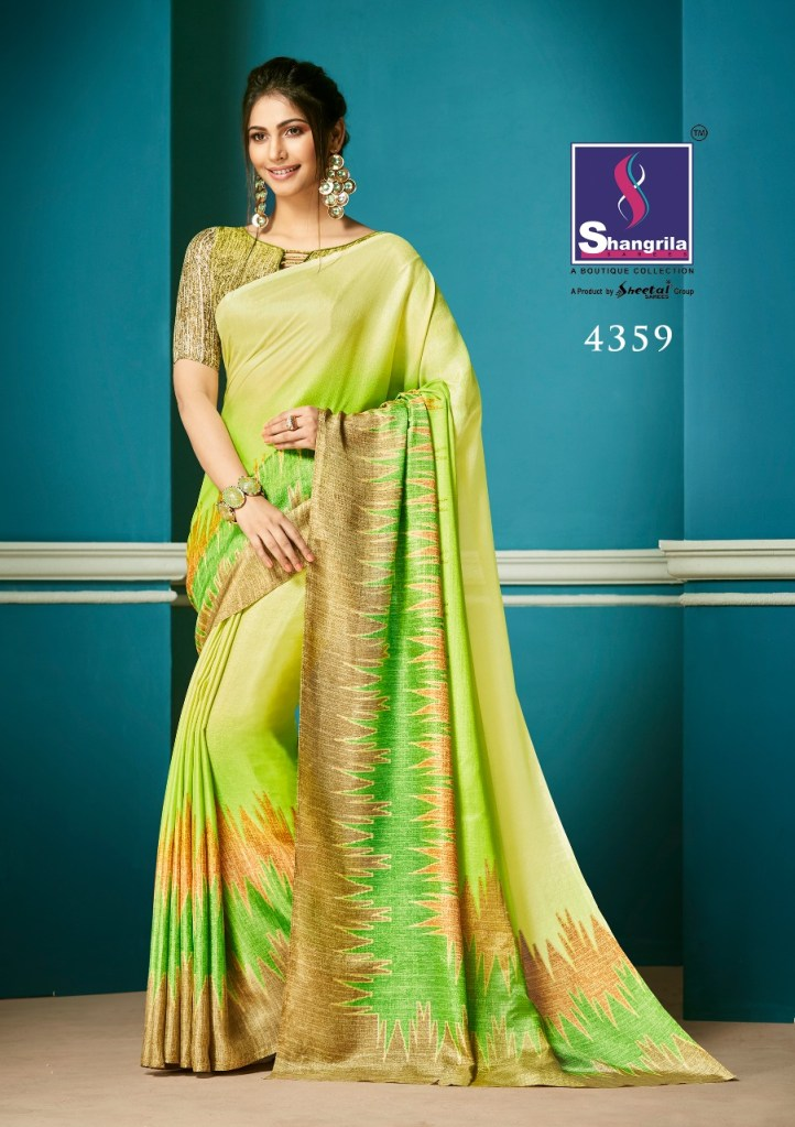 Shangrila autograph simple trendy look sarees collection