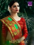 Shangrila nupur silk occasional Wear colourful silk saree collection at wholesale Rate