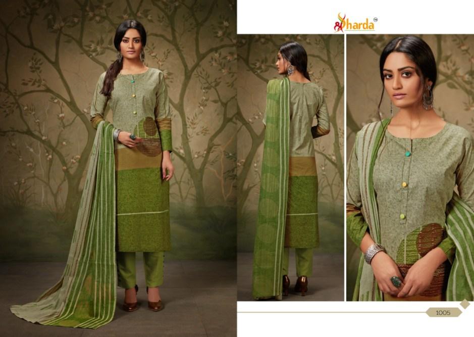 Sharda shaziya beautiful printed designer suits collection at Wholesale Rate