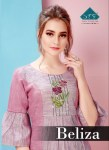 Stf beliza colourful party Wear cotton Kurties collection