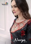 Vardan navya vol 11 printed gowns heavy Embroidered readymade gown Catalog
