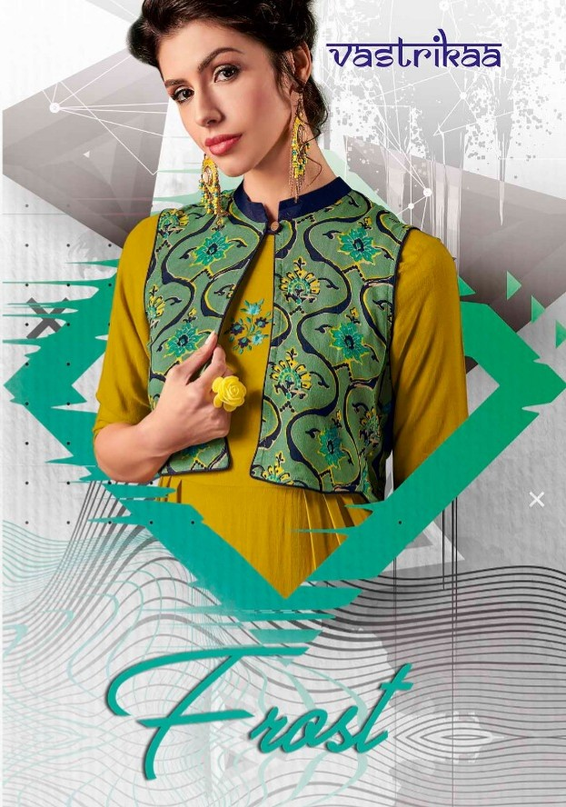 Vastrikaa frost fancy Kurties ready To Wear stylish collection at Wholesale price