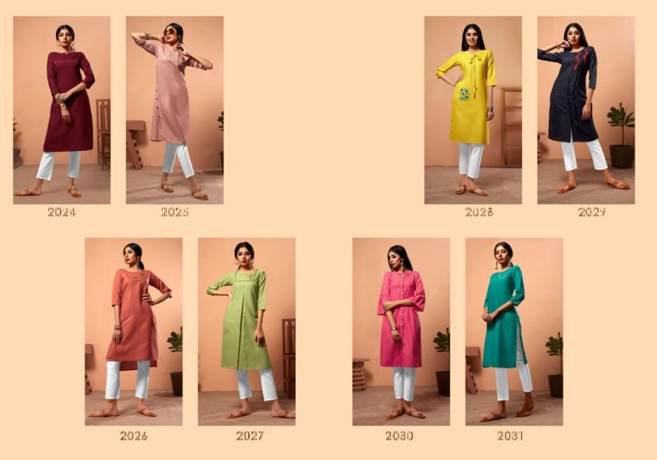 Kirara sui dhaga beautiful Colours Ready To Wear straight Kurties Collection Suppliers