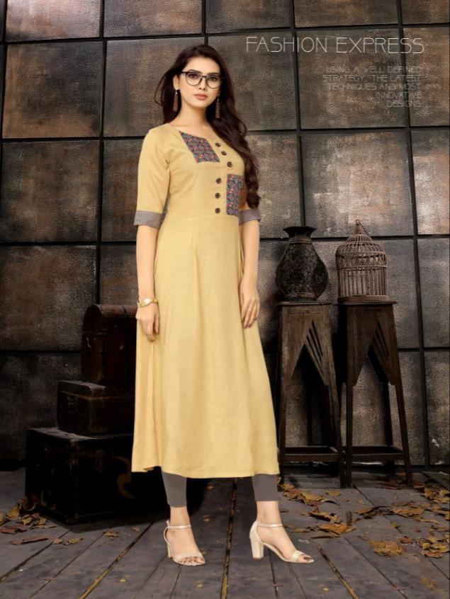 Kurti times kiara long straight rayon kurties collection at wholesale rate