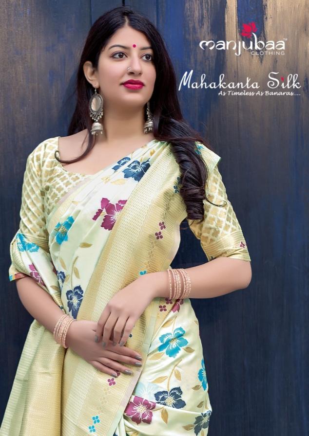 Manjubaa mahakanta silk fancy colourful Party Wear sarees Collection