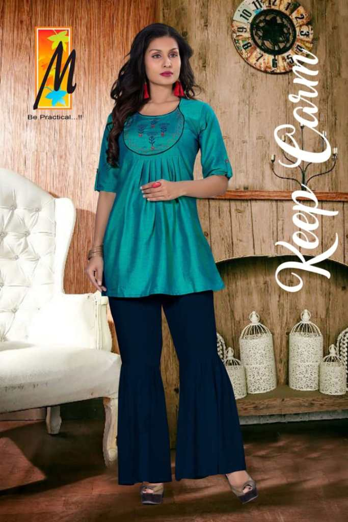 Master hasina fancy kurties with dhoti and pants style catalog