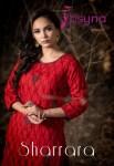 Psyna sharara beautiful embroidered kurti with sharara catalog