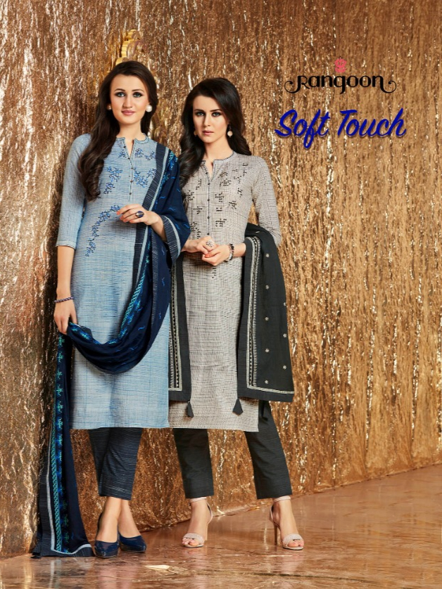 Rangoon soft touch readymade cotton printed salwar Kameez
