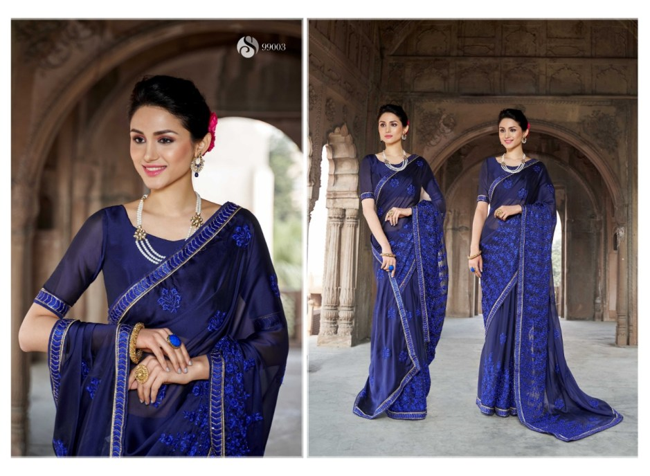 Saroj heritage indian Traditional Wear Stylish Printed Sarees Collection Dealer