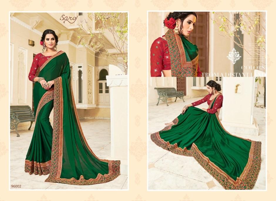 Saroj manjaree traditional Wear Stylish silk sarees Collection