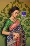 shangrila nimaaya silk beautiful multi colored ethnic designer sarees collection
