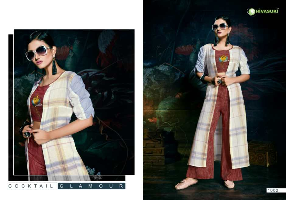 Shivasuki start up embroidered ready To wear fancy Kurties