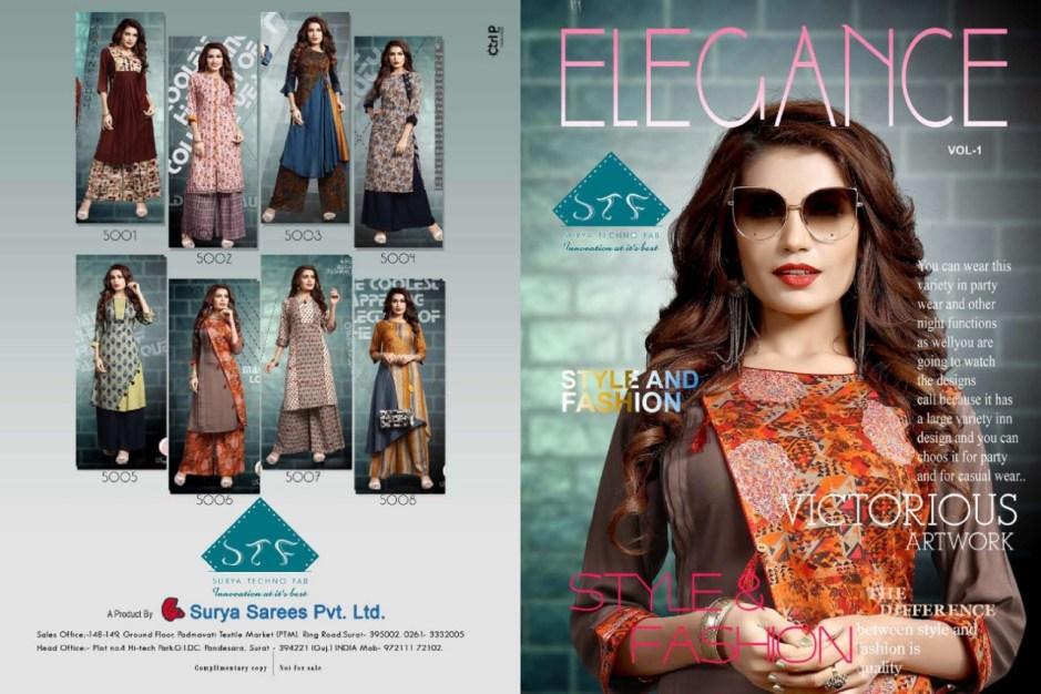 Stf Elegance vol 1 printed Kurties beautiful Colours Catalog Dealer