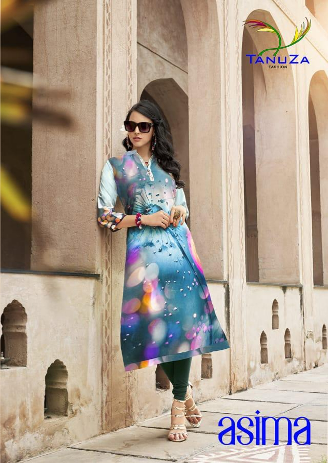 Tanuza asima colourful ready to wear stunning Kurties Collection Suppliers