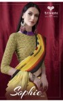 triveni sophie-6 beautiful casual designer sarees catalog