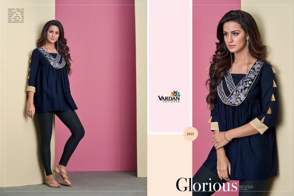 Vardan designer ira vol 2 fancy rayon ready To Wear Kurties Collection