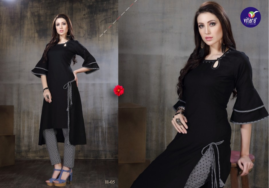 vitara fashion gratel exclusive designer wear kurtis collection