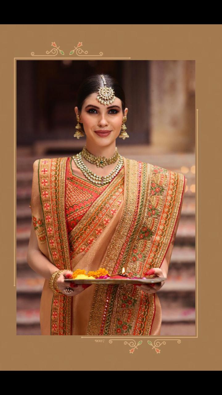 Vritika lifestyle palash vol 9 traditional wear heavy sarees Collection