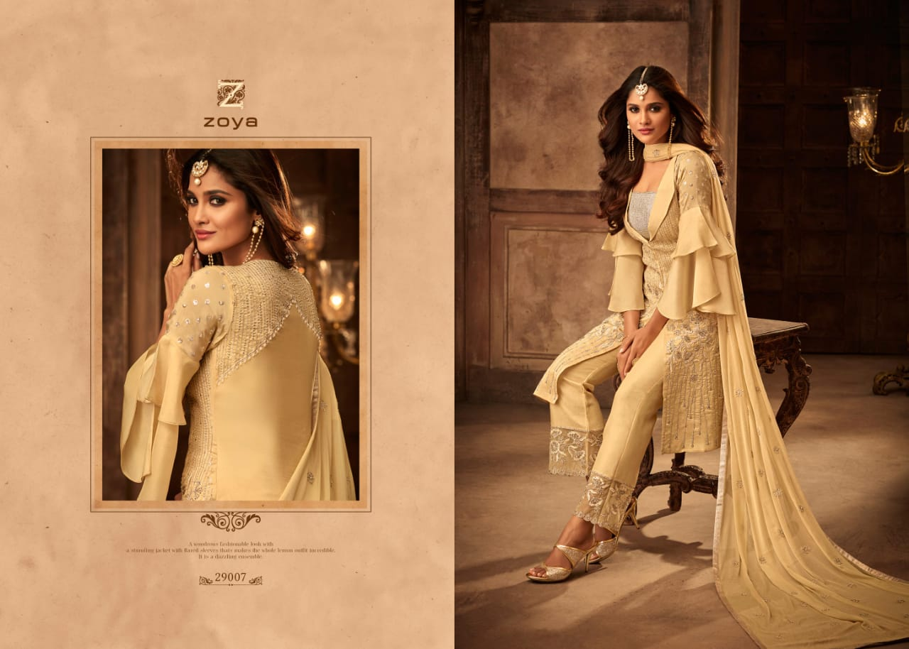 31d291f01d Zoya moments heavy embroidered bridal wear salwar kameez collection at  wholesale rate