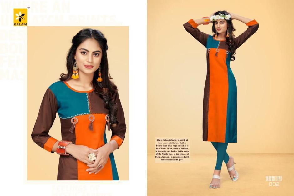 kalam womens colorful regular wear kurtis at reasonable rate