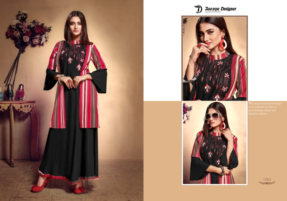 jaanya designer chandni colorful fancy collection of salwaar suits