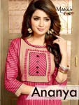 manas aanaya colorful collection of kurtis at wholesale rate