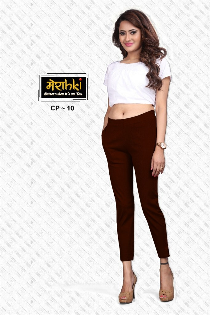 merakhi linen lycra colorful pants collection at wholesale rate