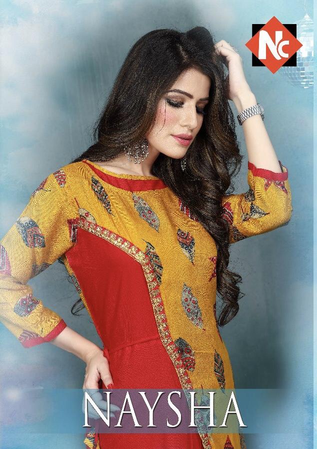 neeti naysha fancy colorful wear kurtis catalog at reasonable rate