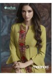 radhak maanaa vol 6 beautiful kurtis along with plazzo catalog at reasonable rate