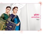 saroj abhushan colorful wear sarees catalog at reasonable rate