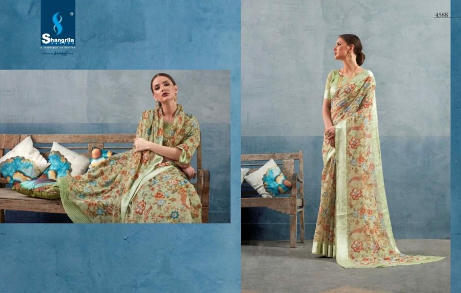 shangrila creation kanchana cotton vol 13 fancy collection of sarees at reasonable rate
