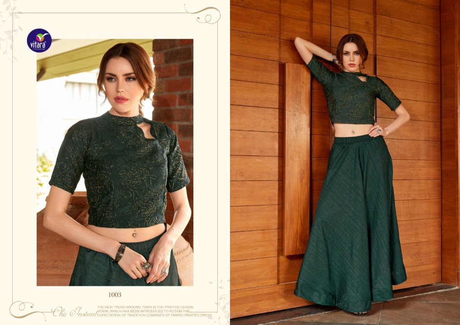 vitara fashion magic beautiful designer crop tops outfit collection