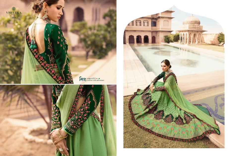 vritika lifestyle sparsh vol 10 beautiful designer lehngas collection