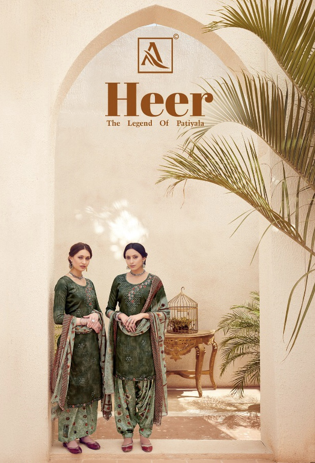 alok suits heer colorful fancy collection of salwaar suits at reasonable rate