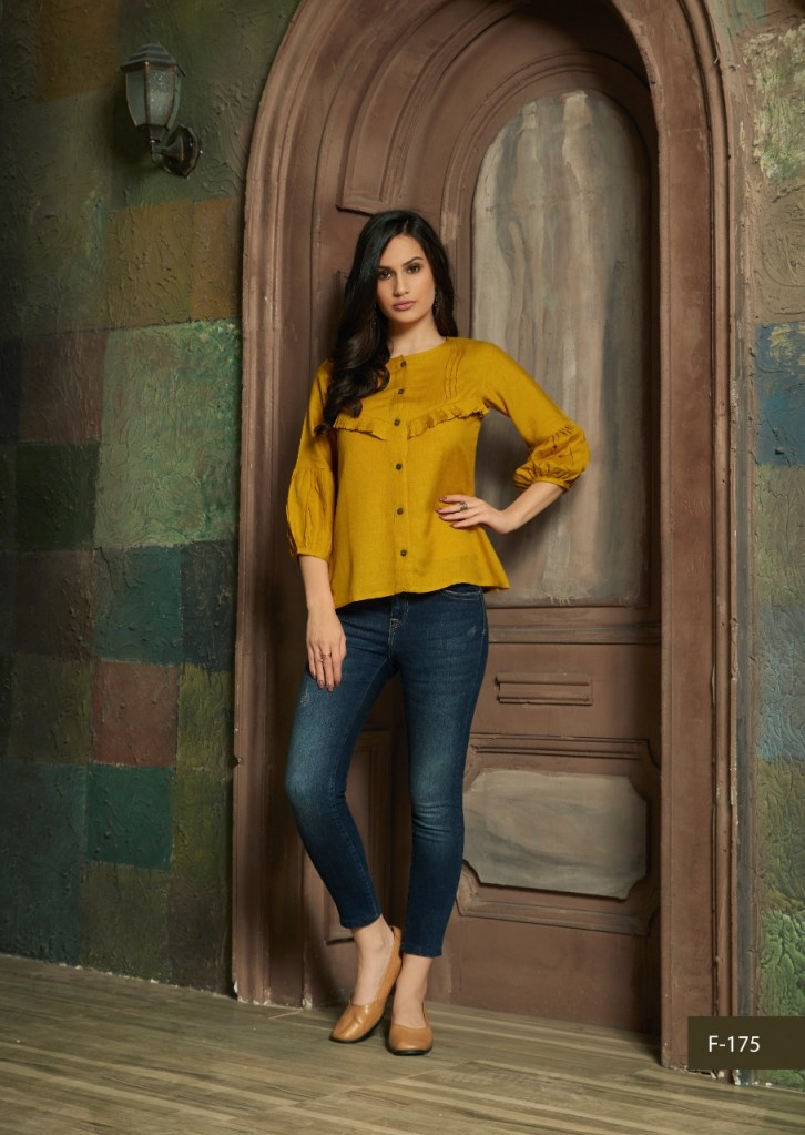feminista avishka colorful ready to wear casual tops at wholesale rate