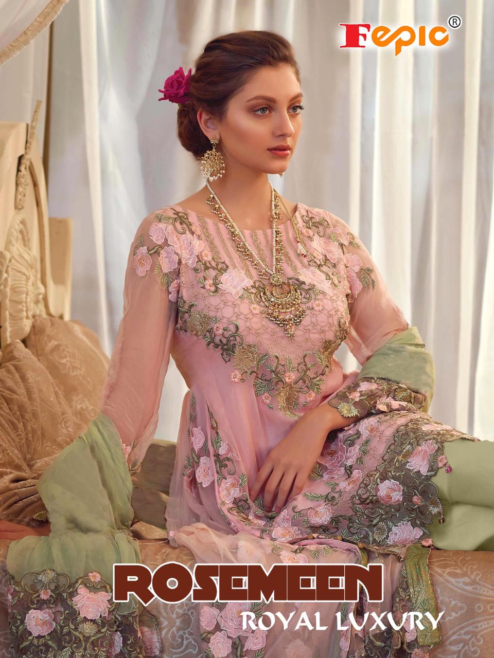 fepic rosemeen  royal luxury fancy designer collection of salwaar suits