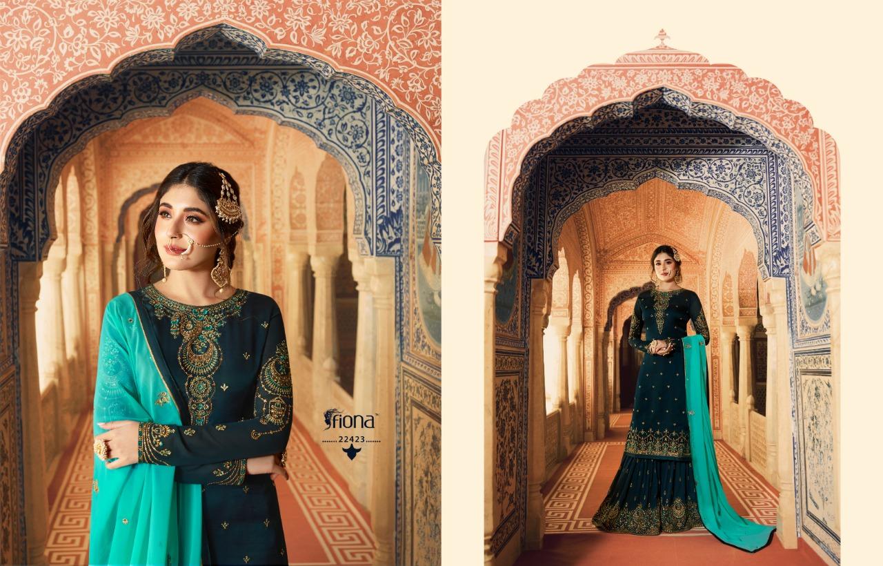 bae53b44e1 fiona kritika sharara vol 7 beautiful collection of kurtis with sharara
