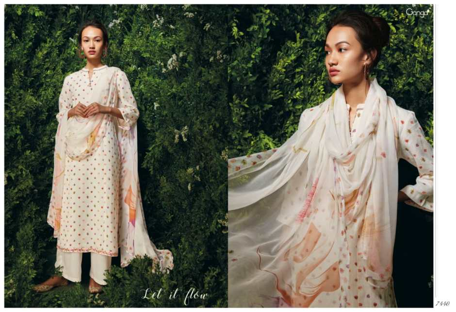 ganga fashion let it flow fancy collection of salwaar suits at reasonable rate