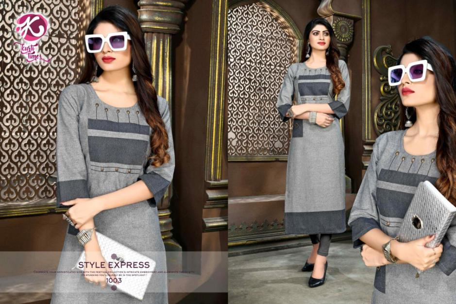 kurti times elegance colorful fancy ready to wear kurtis collection