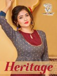 ladyview heritage fancy kurtis catalog at reasonable rate